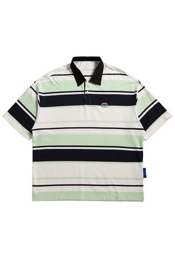 Twenty Eight Shoes Contrast Stripe Short Sleeve Polo Shirt 1675S21 8ABBAAAE8F488EGS_1