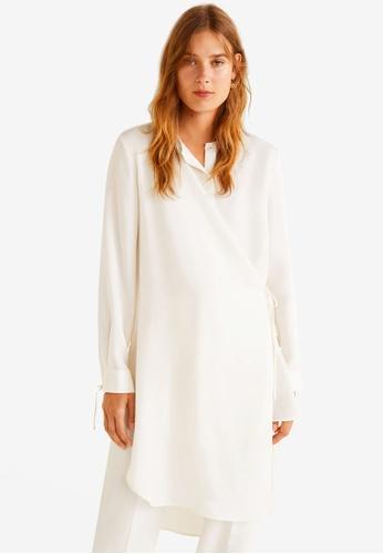 Mango white Wrap Soft Fabric Blouse 60496AA0FBA614GS_1