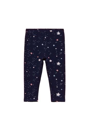 OVS navy Stretch All-Over Small Stars Print Leggings EBFF8KA6C17195GS_1