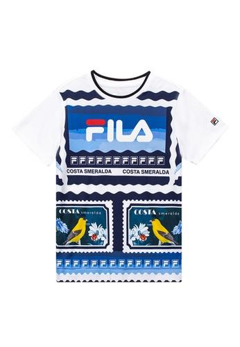 FILA blue FILA KIDS FILA Logo Theme Printed Cotton T-shirt 10-15yrs 66B2BKAC6DB82DGS_1
