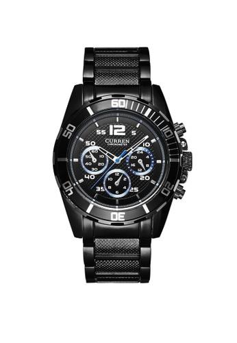 curren black Curren 8073 Men's Stainless Steel Classic Watch (Full Black) CU537AC63TWEMY_1