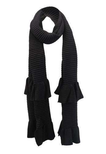 ESPRIT black Knitted Scarf ES374AC0T17IMY_1