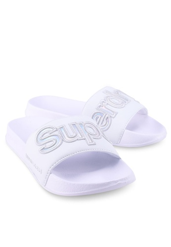 Superdry 黑色 and 白色 90S Pool Slide 48481SH650B6E1GS_1