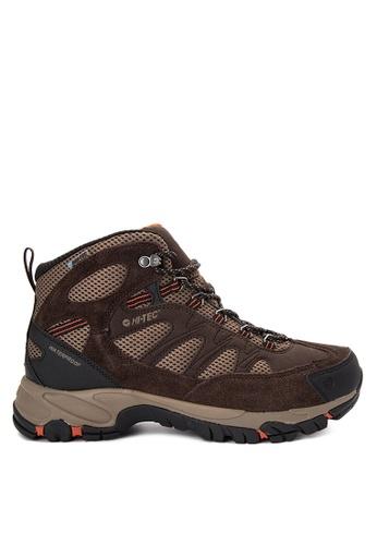 Hi-Tec brown Riverstone Waterproof Shoes 48E60SHCEE6E7CGS_1