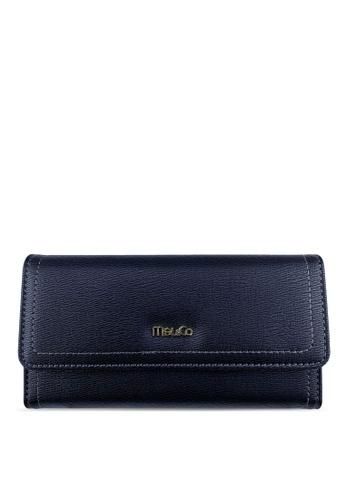 Mel&Co black Faux Leather Long Wallet 21EB7AC751BA60GS_1