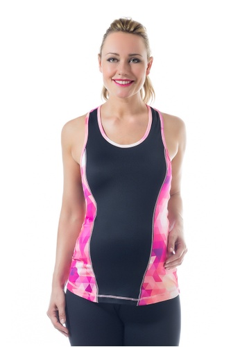 Bove by Spring Maternity black Kate Fitness C Back Tank F641CAA7B41686GS_1