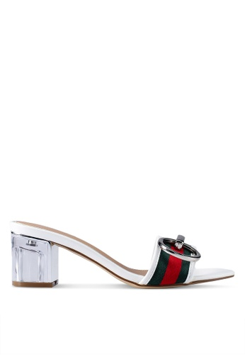 dcffc0985 Nose white Lucite Sport Band Buckle Slide On Heels C5499SH4D6AADCGS 1