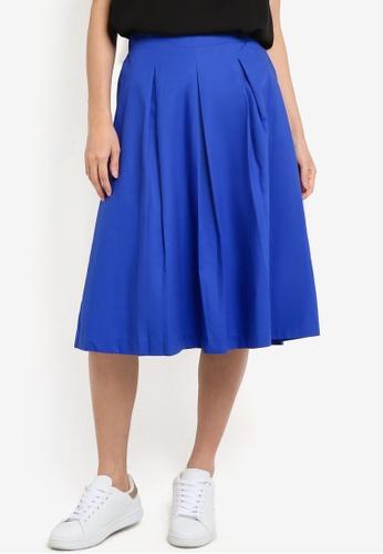 Dorothy Perkins blue Cobalt Cotton Full Skirt DO816AA97SYOMY_1