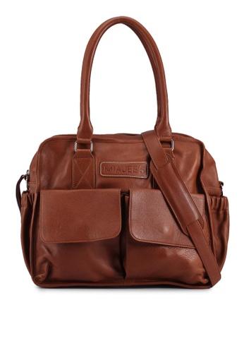 Miajee's brown Alicia Muqin - Genuine Leather Handcrafted Diaper Bag B10BDAC22DDABEGS_1