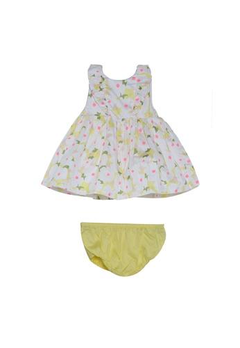 DU PAREIL AU MÊME (DPAM) white Floral Print Sleeveless Flare Dress 9742DKA1C15505GS_1