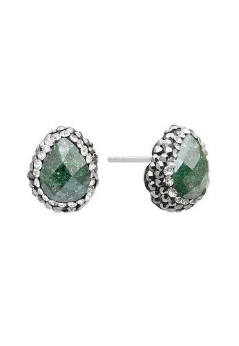 Fervor Montreal green Fervor Montreal-Druzy Earrings Pear 6C572AC4AA72B9GS_1