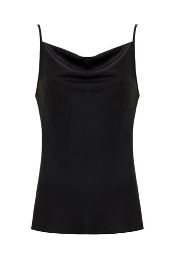 Jimmy Sanders 黑色 Jimmy Sanders Women's Blouse with Knot Detail A64C3AA9D6F71CGS_1
