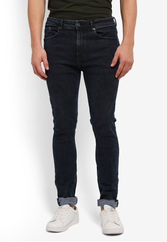 Burton Menswear London navy Super Skinny Salt And Pepper Wash Jeans BU964AA0SILPMY_1