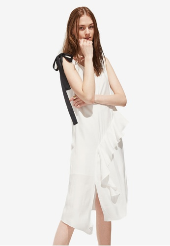 Hopeshow white Layer Frill Wide Strap Dress 46FFEAA086C131GS_1
