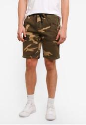 UniqTee 綠色 Chino Shorts With Elastic Waistband UN097AA0S225MY_1