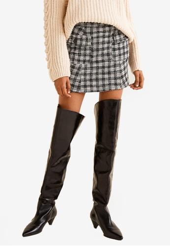 Mango white Check Tweed Skirt 4196AAA9206A56GS_1