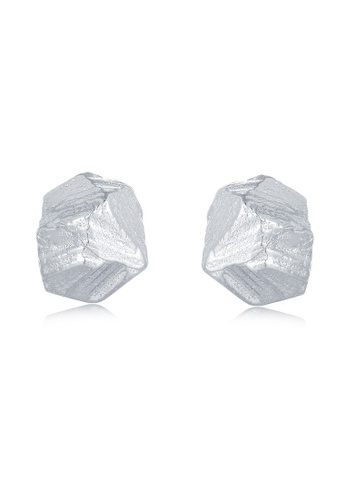 MBLife silver 925 Sterling Silver Meteor Stone Shape Stud Earrings E1396ACC263A40GS_1