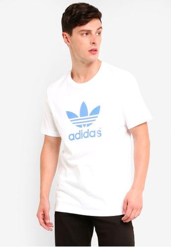 adidas 白色 LOGO印花短袖T恤 A5AB4AA29520BFGS_1