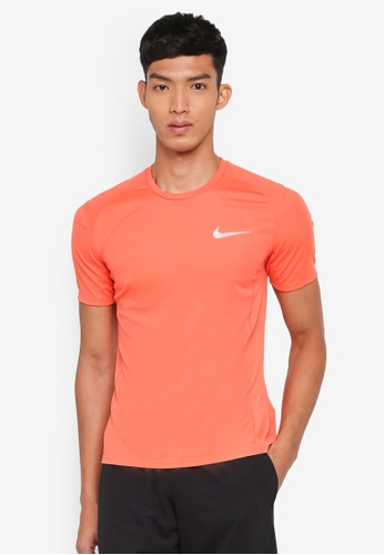 Nike orange Men's Nike Miler Short Sleeve Running Top 8A7AEAA121FC11GS_1