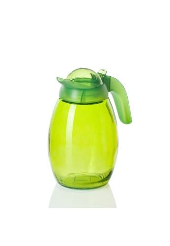 Herevin Herevin 1600ML Coloured Jug / Liquid Dispenser / Glass Jug with Lid / Fridge Jug / Glass Pitcher / Glass Jug / Juice Pitcher - Green / Purple / Orange 7BD30HL9295ED5GS_1