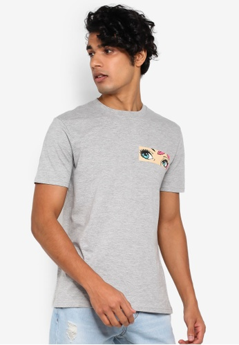 OVS 灰色 印花T恤 ED91DAAF9CC619GS_1