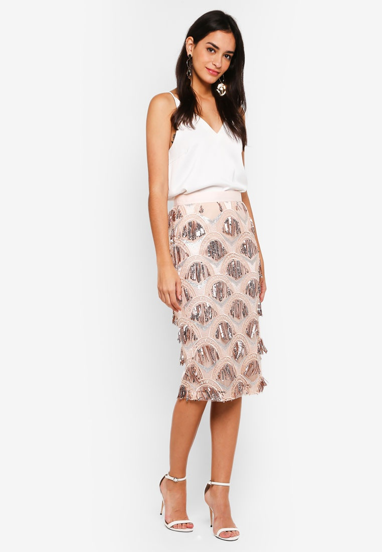 Selfridge Shyla Fringe Miss Pink Skirt z8HqPx