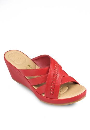Beatzalora 評價rice 編織寬帶楔形鞋, 女鞋, 鞋