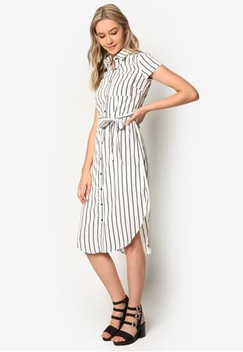 Love 襯衫及膝連身裙、 服飾、 洋裝ZALORALove襯衫及膝連身裙最新折價