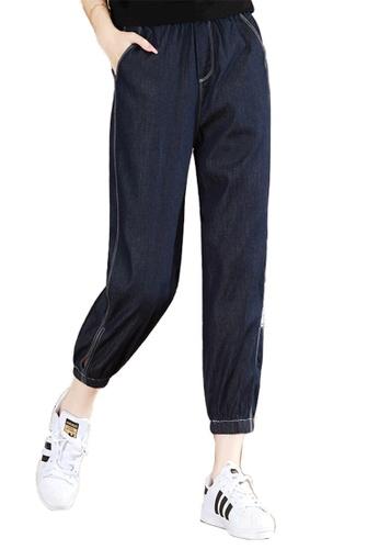 A-IN GIRLS navy Elastic Waist Jeans FE2F5AAFCFDB2CGS_1