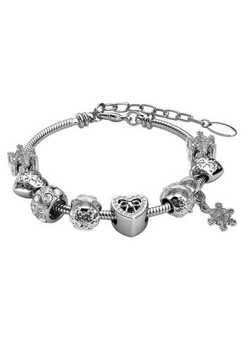 Her Jewellery white Her Jewellery Feliz Charm Bracelet (White Gold) with Premium Grade Crystals from Austria E7733ACA745DF7GS_1