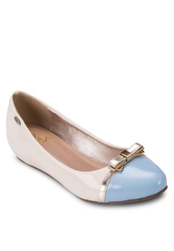 金屬蝴蝶結拼色平底鞋, 女鞋, 芭蕾esprit服飾平底鞋