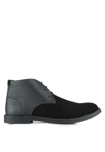 UniqTee black Faux Suede Chukka Boots UN097SH0RS4VMY_1