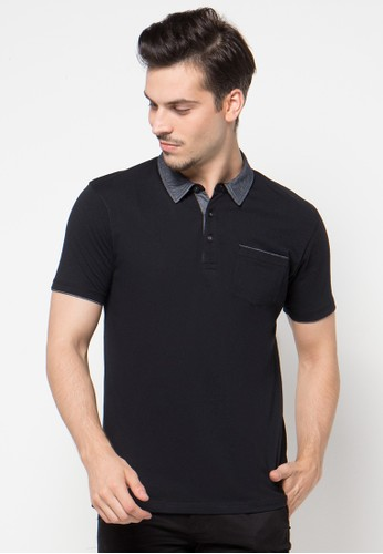 Piping Slip Chambray Polo