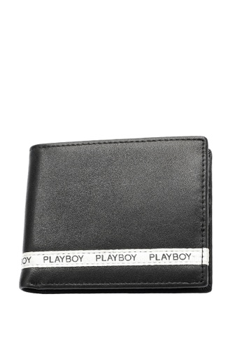 Playboy black Tape Bifold Wallet DB66FAC4A48D3EGS_1