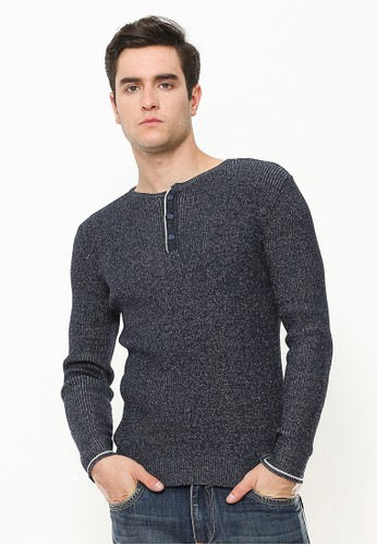 Johnwin grey Sweater Pria - Kancing Tiga - Abu FD358AAD1BEF54GS_1