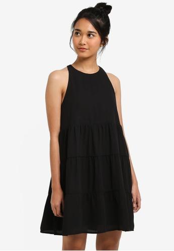 Something Borrowed black Cut-In Tiered Babydoll Dress 8A388AA12E6DECGS_1