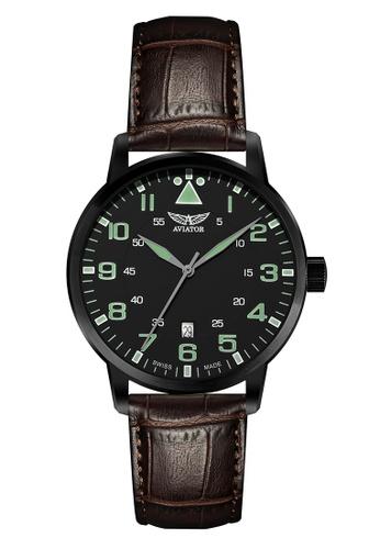 Aviator black and brown AVIATOR (V.1.11.5.038.4) 手錶 0F3D1ACA73F6ACGS_1