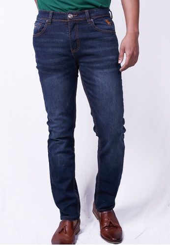 MILANO blue and navy Milano Jeans Long Pants Straight F289EAA2F6DC8DGS_1