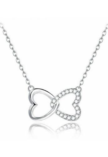 Vivere Rosse silver Hugs and Kisses Necklace - Silver VI014AC33BIKMY_1