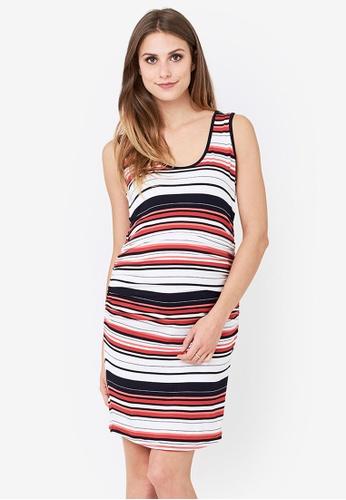 e346d0cb59279 Shop Ripe Maternity Maternity Stripe Nursing Dress Online on ZALORA  Philippines