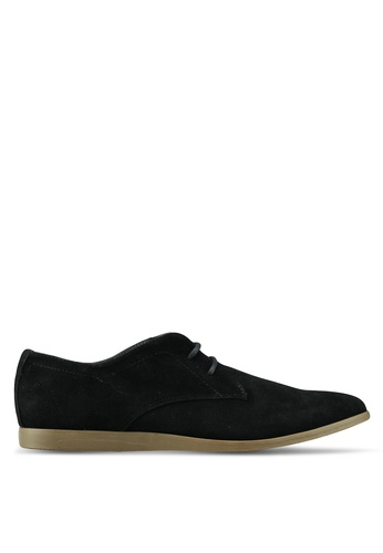 Topman black Black Faux Suede Slate Desert Shoes 86145SHC6CBE4DGS_1