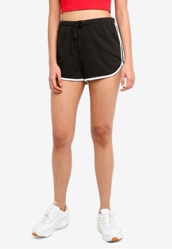 Supre black Basic Sweat Shorts 76B82AAD2B307AGS_1