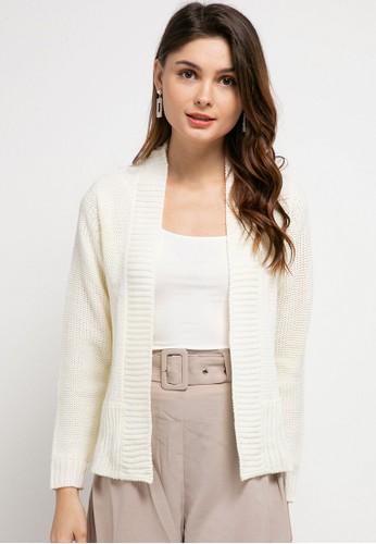 Peponi white Reversed Jersey Cardigan 7740CAAEE8E148GS_1