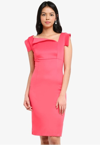 Goddiva pink Chic Mad Men Style Dress B235DAA179A138GS_1