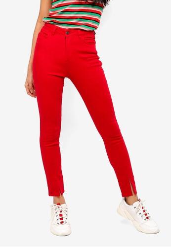 5910b82a03e5 Shop NA-KD Highwaist Skinny Front Slit Jeans Online on ZALORA ...