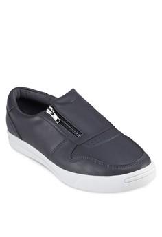 Faux Leather Zipper Sneaker