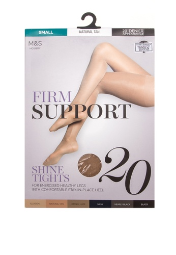 MARKS & SPENCER beige 20 Denier Firm Support Tights 13EE3AA044183AGS_1