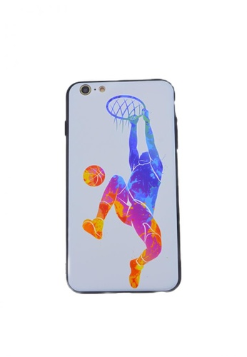Fancy Cellphone Cases multi Basketball Soft Case for iPhone 6/6s D1294ACFB57407GS_1