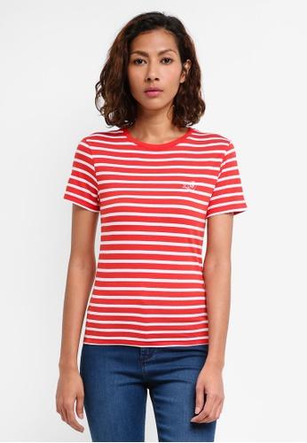 Jack Wills red Matlock Stripe Ringer T-shirt 8C2DDAA0E3D2CCGS_1
