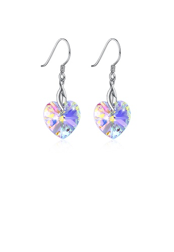 Glamorousky white 925 Sterling Silver Heart Earrings with Austrian Element Crystal 851D4ACD3171C8GS_1